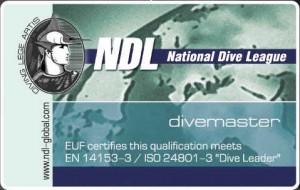 Сертификат NDL DIVEMASTER
