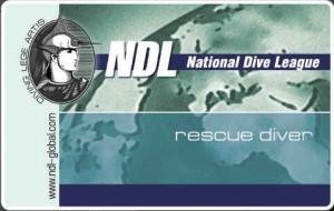 Сертификат NDL RESCUE DIVER