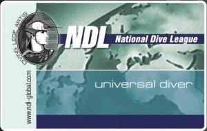 Сертификат. UNIVERSAL DIVER NDL