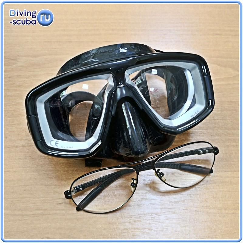дайверская маска с диоптриями